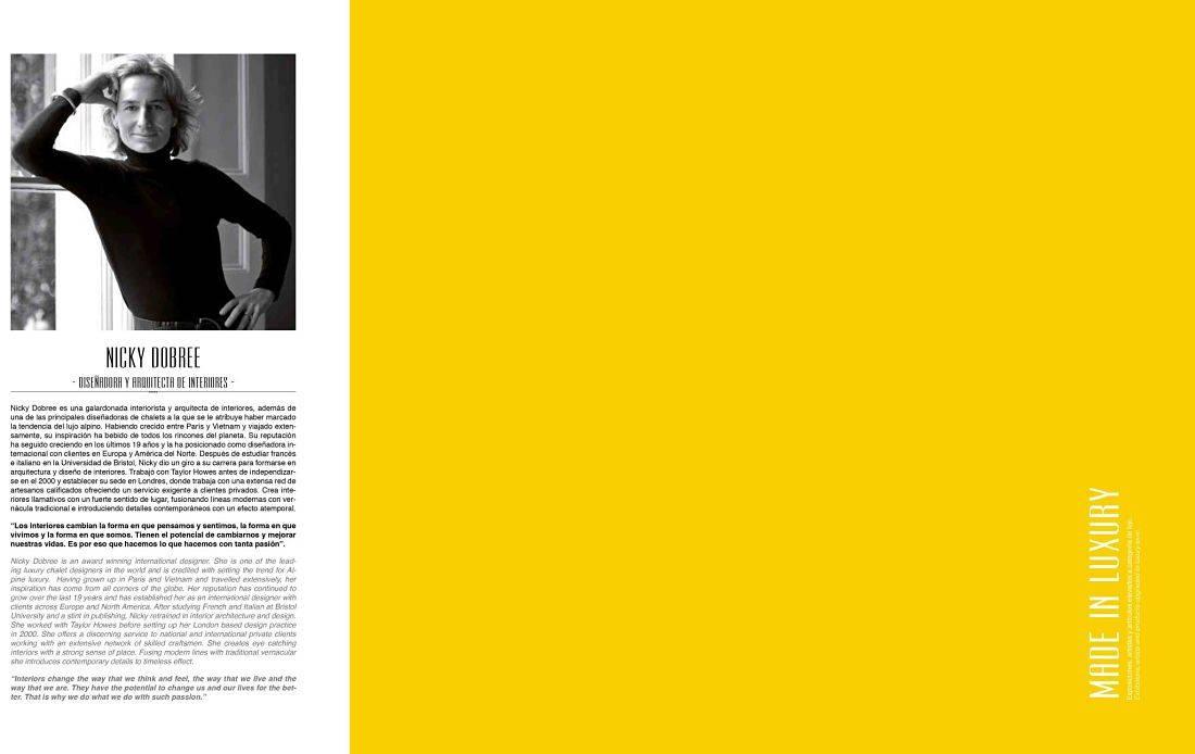 Entrevista con la diseñadora del hotel Plaza 18 de Vejer, Nicky Dobree, en la revista Vip Style Magazine