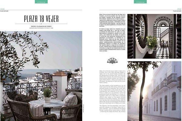 En hotel Plaza 18 de Vejer en la revista Vip Style Magazine