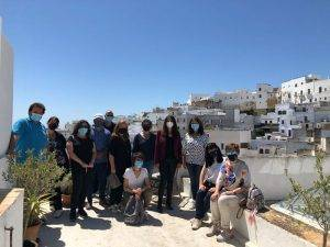 Agentes de viaje y turoperadores andaluces visitan el hotel Plaza 18 de Vejer